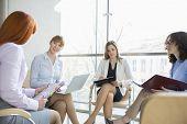 Businesswomen discussing in office