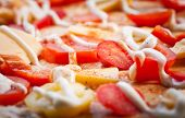 Raw Margherita Pizza and Ingredients