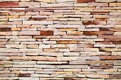 stock photo of wall-stone  - Rough brick wall.stone wall texture. 