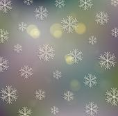 Old Festive Background. Abstract Defocused Background With Twinkling Lights.
