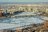 Boston Charles River and Back Bay, Boston