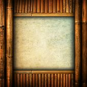 paper on bamboo background