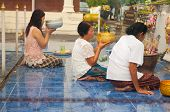 Nongkhai Thailand - October 08 : People Praying Pagoda In Temple On Oct 08 2014 In Thailand