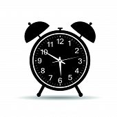 Clock In Retro Style Vector Illustration