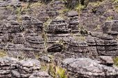 picture of bolivar  - Bizarre ancient rocks of the plateau Roraima tepui  - JPG