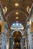 St. Peter's Basilica, St. Peter's Square, Vatican City. Indoor Interior