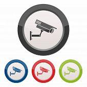 pic of cctv  - CCTV camera icon as a symbol of CCTV camera - JPG