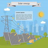 Solar energy power lines money