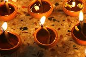 Traditional Diwali Lamps