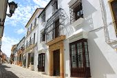 Narrow Hilly Street In Ronda
