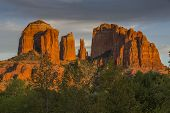 Cathedral Rocks at Sunset