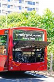Broken down bus, Nottingham.