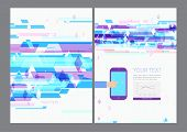 Abstract modern bright multicolored rectangles flyer