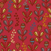 Beautiful floral vintage seamless pattern. Good idea for textile, wrapping, wallpaper or cloth design.
