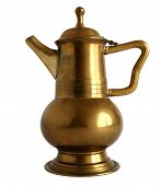 Old Brass Coffee Pot