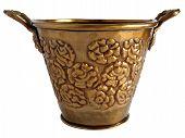 Old Copper  Ornamental Flowerpot