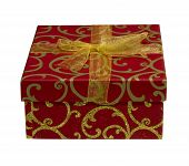 Red and Gold Christmas gift box