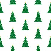 Geometric Christmas Tree Background