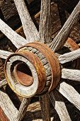 Vintage Wooden Wagon Wheel
