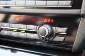 Headlights control knob in a modern car