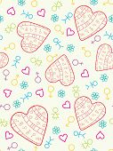 Colorful Heart Seamless