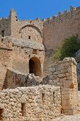 Gate of the ancient fortress.