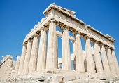 Famous Parthenon Temple In The Acropolis, Athens, Greece.