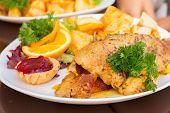 stock photo of roast duck  - polish traditional dish   - JPG