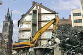 A building is demolished to make room for another