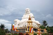 Buddha statue in a Buddhist Temple in Vietnam