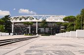Exterior of the Olympic Stadium in Rome, Italy
