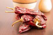 red spicy dried chilli chile aji