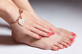 image of painted toes  - Close - JPG