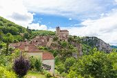 image of naturel  - Village of Saint Circ Lapopie in France in summer - JPG