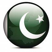 image of pakistani flag  - Vector Image  - JPG