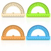pic of protractor  - The protractor ruler on a white background - JPG