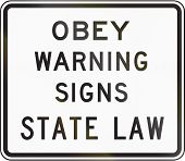 picture of obey  - US traffic sign - JPG