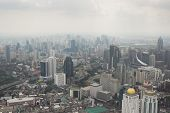 stock photo of smog  - Smog over Bangkok in city center obscures the sky - JPG