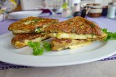 picture of french toast  - French toast with Gouda cheese and herb - JPG