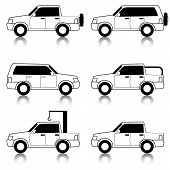 picture of car symbol  - Set of vector icons  - JPG