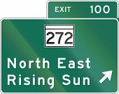 stock photo of maryland  - United States Interchange Exit Direction Sign Maryland - JPG