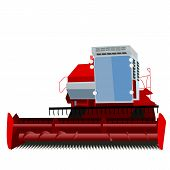 pic of combine  - combine harvester on a white background - JPG
