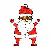 image of ugly  - retro comic book style cartoon ugly santa claus - JPG