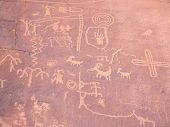 picture of valley fire  - Prehistoric rock paintings in the Valley of Fire Nevada USA - JPG