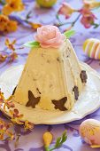 picture of orange peel  - Traditional Easter cottage cheese dessert with orange peel and chocolate - JPG