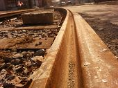 picture of reconstruction  - Reconstruction old tram track on town centre - JPG