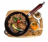 foto of buckwheat  - Restourant serving dish  - JPG