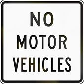 picture of motor vehicles  - United States traffic sign - JPG