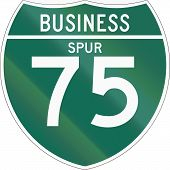 pic of spurs  - Off Interstate Business Spur shield 75  - JPG