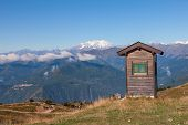 stock photo of lagos  - The mountain panorama near Lago Maggiore - JPG